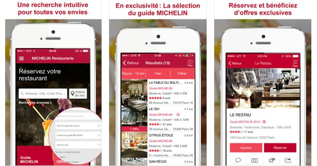 Trouver un restaurant gastronomique avec l'application Michelin Restaurants