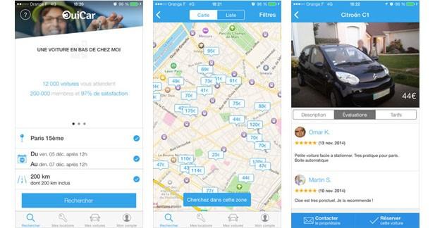 OuiCar : un service de location de voitures entre particuliers