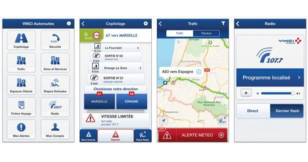 Vinci Autoroutes : une application Smartphone pour s'informer sur son trajet