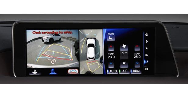 Le Lexus RX s'équipe d'un système de vue panoramique à 360°