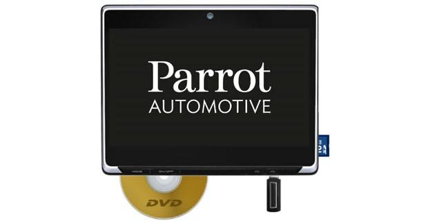 Parrot développe un système vidéo pour les passagers arrière