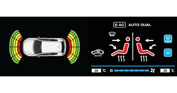 Videotronik permet l'affichage de la clim et des radars de stationnement sur le Smart