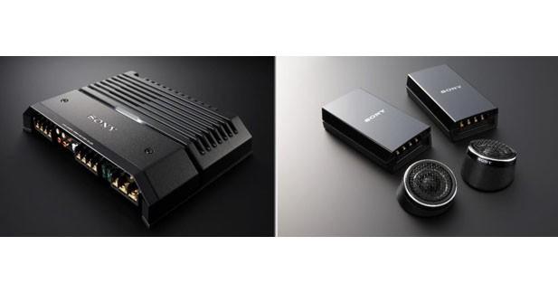 En plus de son autoradio, Sony présente amplis et haut-parleurs