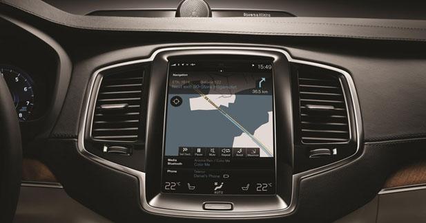 La Volvo XC90 fait appel à la technologie Here pour la navigation