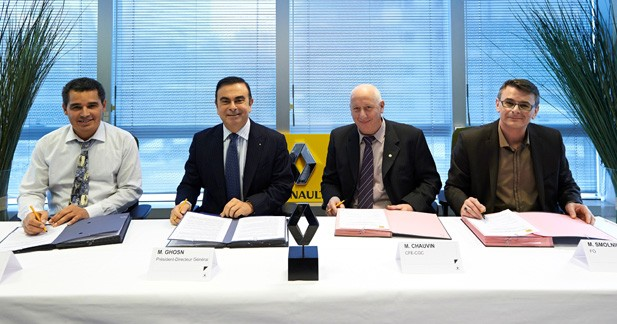 Accord de compétitivité signé pour Renault et 3 syndicats