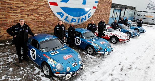 Renault alignera 5 Alpine A110 au Monte-Carlo Historique