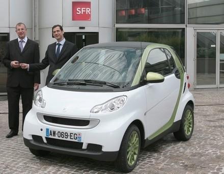 Cinq Smart Fortwo ED pour l'opérateur SFR