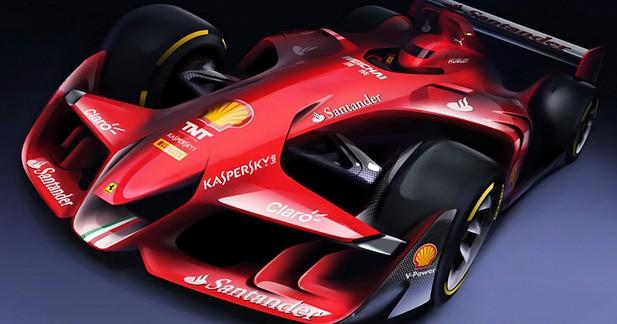 La Formule 1 du futur imaginée par la Scuderia Ferrari