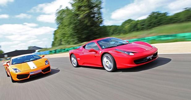 Comparatif Ferrari 458 Italia / Lamborghini Gallardo 550-2 Valentino Balboni : L'estocade finale