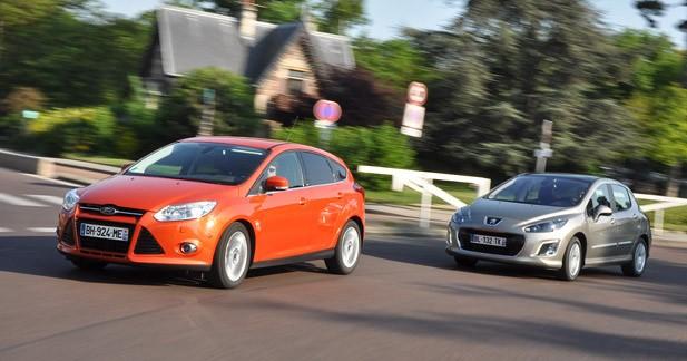 Comparatif Ford Focus 1.6 TDCi 115 ch Titanium / Peugeot 308 1.6 e-HDi 112 ch Allure : leçon d'agrément