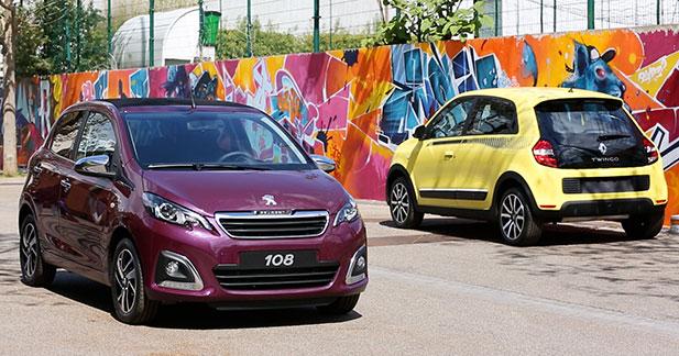 Exclusif : la Peugeot 108 face à la nouvelle Renault Twingo