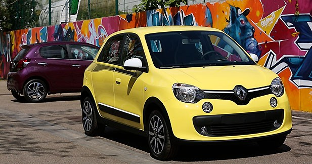 exclusif la peugeot 108 face la nouvelle renault twingo. Black Bedroom Furniture Sets. Home Design Ideas