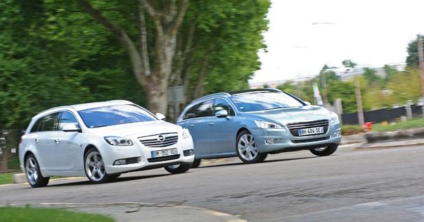 Match Peugeot 508 SW 2.0 HDI140 / Opel Insigna Sports Tourer 2.0 TDCI 160 : des atouts de poids