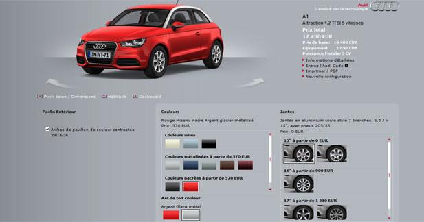 Configurez vous même votre future Audi A1