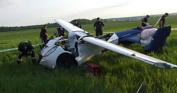 Crash du prototype de voiture volante Aeromobil 3.0