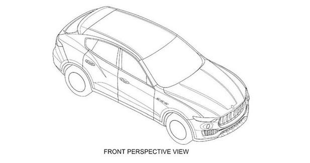 Le futur SUV Maserati Levante apparaît en dessins