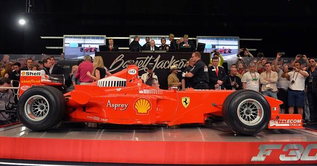 Une ex-F1 de M.Schumacher adjugée 1,25 millions d'euros pour la bonne cause