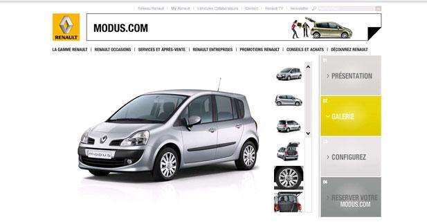 Renault lance Modus.com et Grand Modus.com