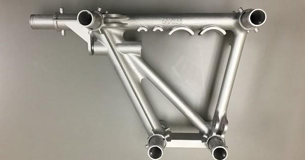 L'impression 3D utilisée pour certaines pièces du châssis
