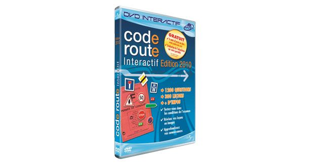 dvd code route interactif 2010 un entra nement complet en 300 le ons. Black Bedroom Furniture Sets. Home Design Ideas