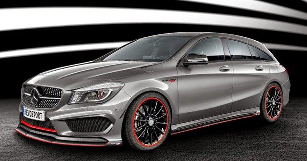 444 ch pour le cla 45 amg shooting brake pr par par revozport. Black Bedroom Furniture Sets. Home Design Ideas