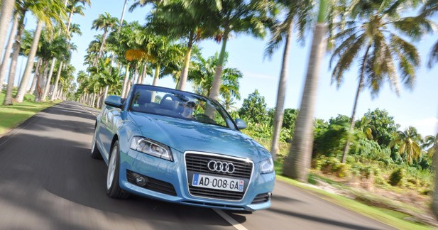 Essai Audi A3 Cabriolet 1.6 TDI 105 : éco-conduite sous les cocotiers