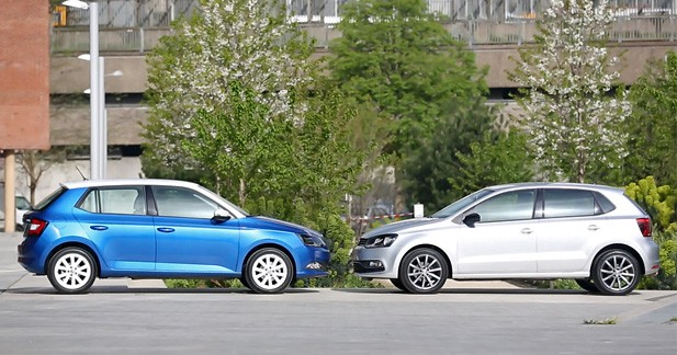 skoda fabia vs volkswagen polo sedan