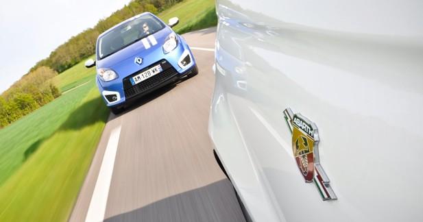 Match Renault Twingo RS Gordini / Abarth 500 : Qui s'y frotte s'y pique
