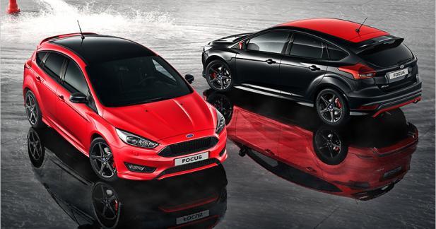 Ford Focus Sport : en rouge et noir