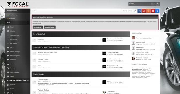 Focal-Experience : un forum d'échanges pour les passionnés de la marque