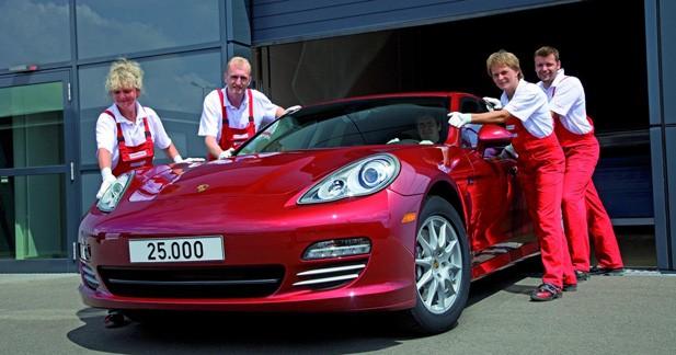 25 000 Porsche Panamera déjà sorties de l'usine de Leipzig