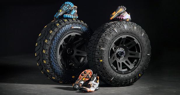Rencontre entre des pneus et des chaussures de trek!