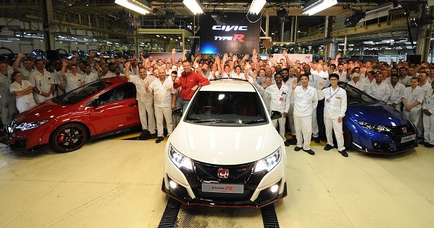 Les premières Honda Civic Type R sortent d'usine