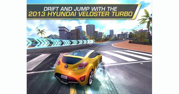 Les Hyundai Veloster et Genesis apparaissent dans le jeu Asphalt 7 : Heat
