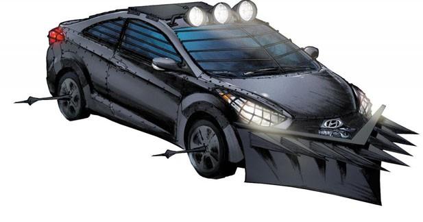 Insolite : une Hyundai dans un Comic