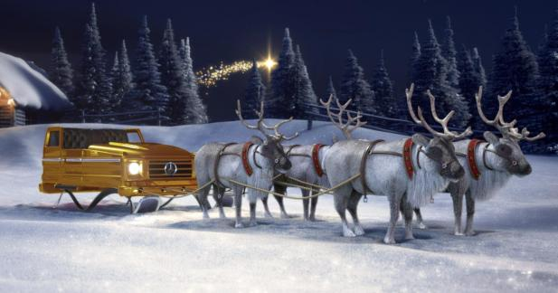 Configurez le traîneau du père Noël grâce à Mercedes