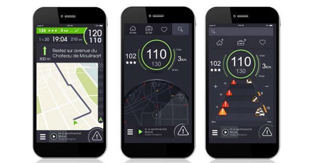 La nouvelle application iCoyote intègre un service d'infos trafic
