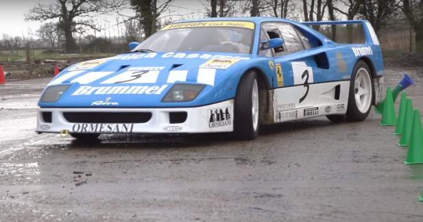La Ferrari F40 GT s'essaye au gymkhana