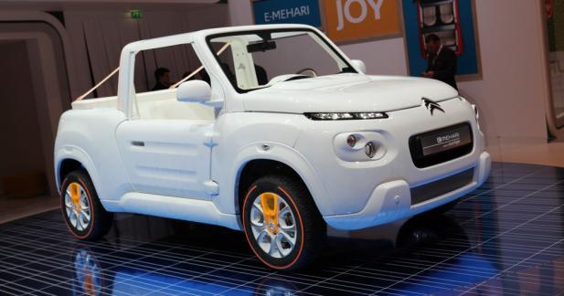 Citroën E-Méhari Courrèges : blanc comme neige