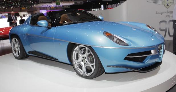 Alfa Romeo Disco Volante Spider : la belle bleue
