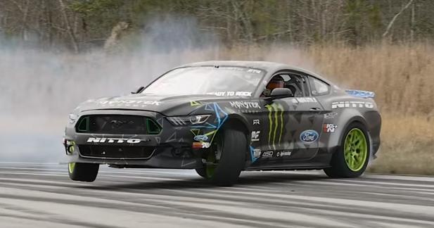 900 ch dans une Ford Mustang, c'est parfait pour drifter