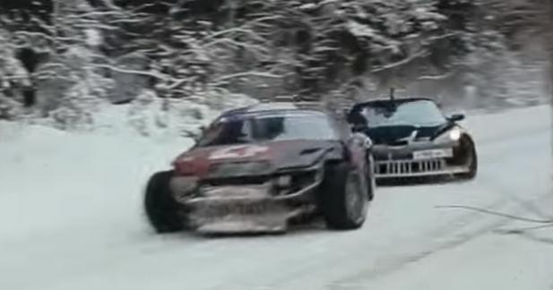 Du drift en tandem et sur la neige pour une Corvette et une Supra
