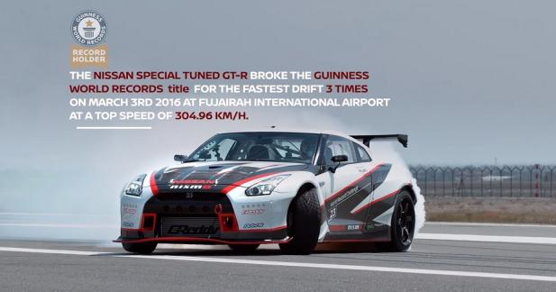 La Nissan GT-R Nismo bat le record de vitesse en drift !