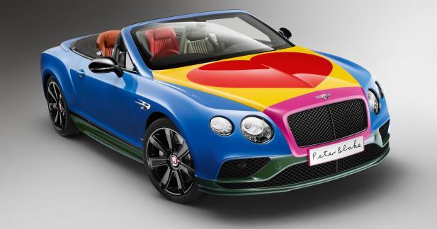 La Bentley Continental GTC se déguise en hippie pour la bonne cause