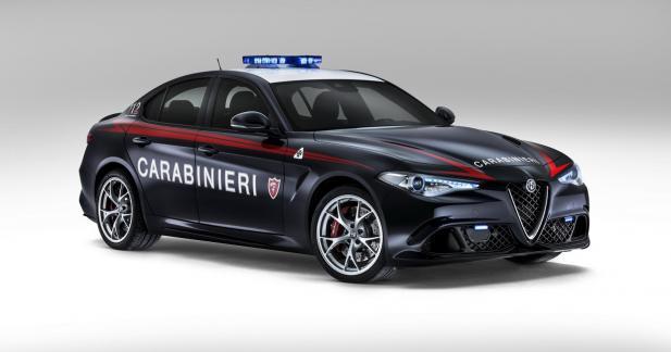 L'Alfa Romeo Giulia Quadrifoglio rejoint les forces de l'ordre italiennes