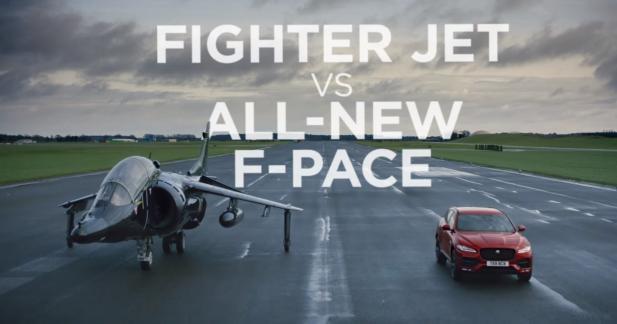 Le Jaguar F-Pace, première voiture à battre un avion de chasse