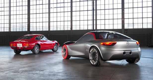 Rencontre entre l'Opel GT Concept et son inspiratrice