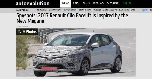 La Renault Clio restylée se montre