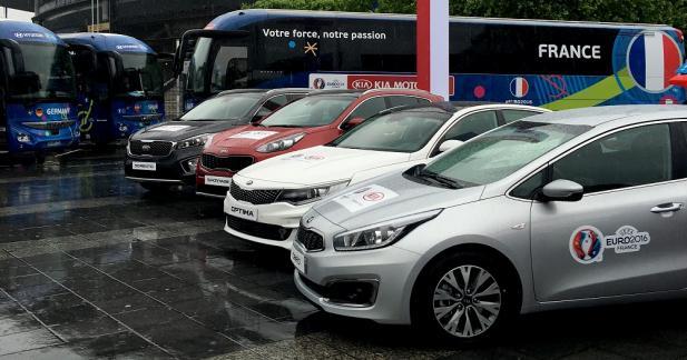 Une flotte de plus de 400 Kia pour l'Euro 2016