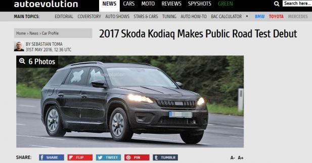 Le Skoda Kodiaq de production se montre